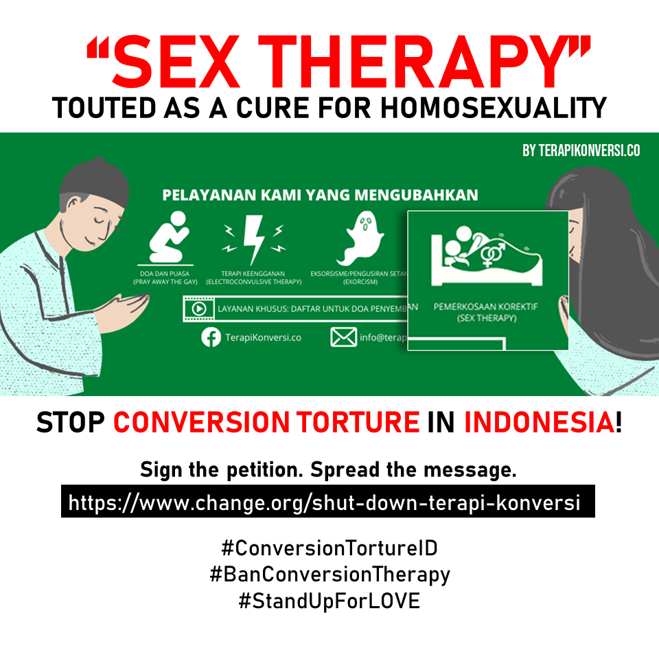 Shut Down Terapi Konversi – Stop Corrective Rape in Indonesia!