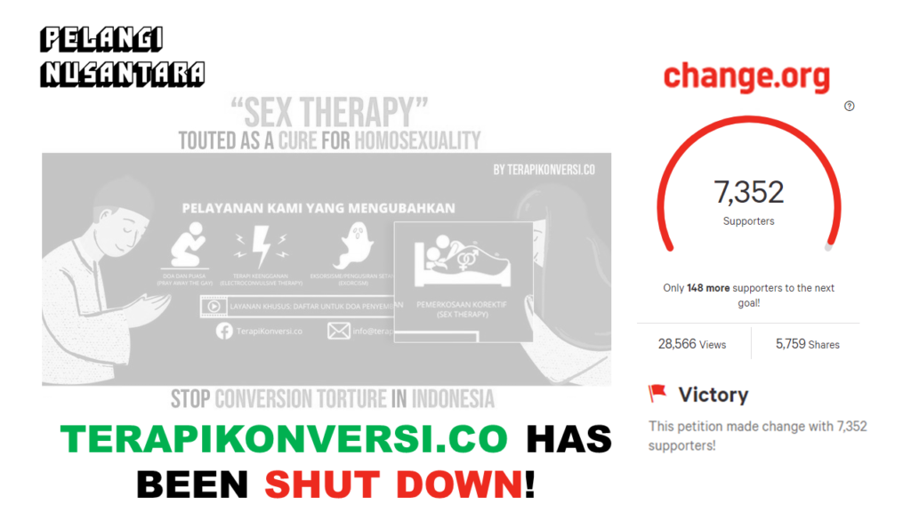 Thank you for standing up against Corrective Rape in Indonesia!